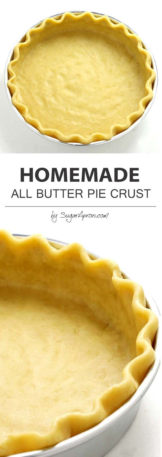Homemade All Butter Pie Crust