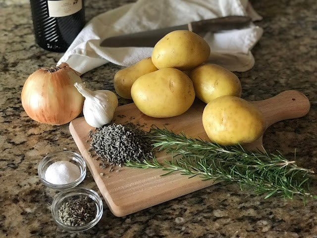 Ingredients for Risotto Style Yukon Gold Potatoes with Lavender and Rosemary