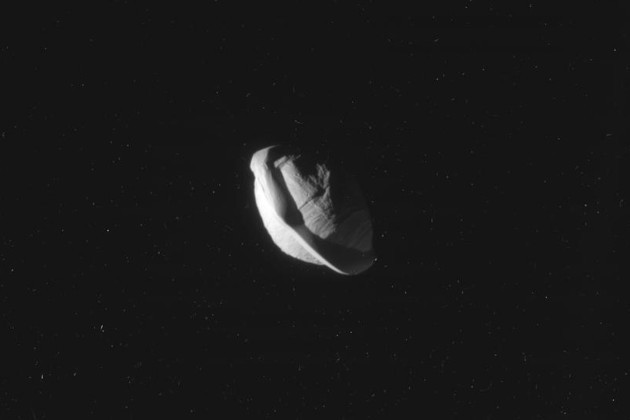 These incredible photographs of Pan, the second moon of Saturn, show with complete clarity that ... it is shaped like a sandwich