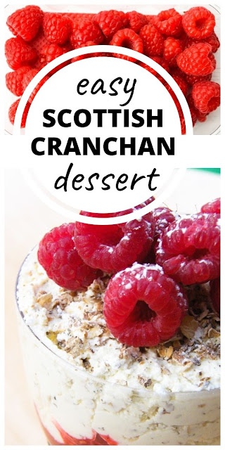 Scottish Cranachan - A recipe for Cranachan, a traditional Scottish dessert made with oats, raspberries, cream and whisky. Perfect for parties, as it can be made ahead or for Burns Night. #scottishcranachan #scottishrecipes #scottishdesserts #scottishpuddings #burnsnight #burnsnightrecipes #raspberryrecipes #raspberriesreipes #oatsrecipes #whiskyrecipes #dessert