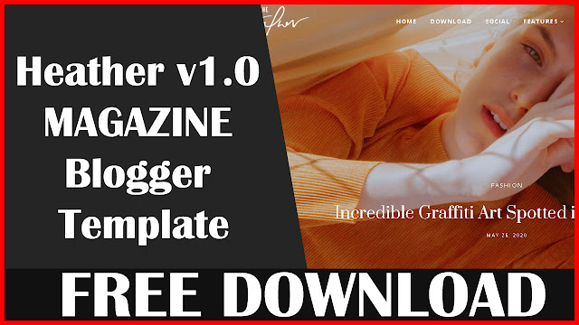 Download Heather v1.0 blogger template download