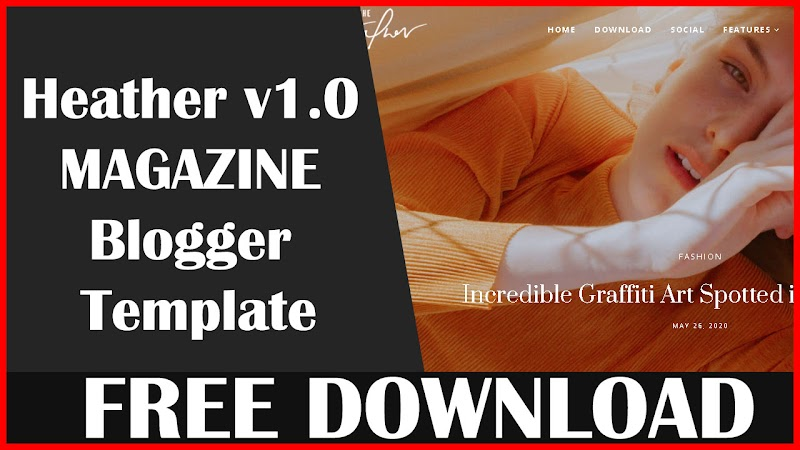 Heather v1.0 - Responsive Personal Blogger Template - Download