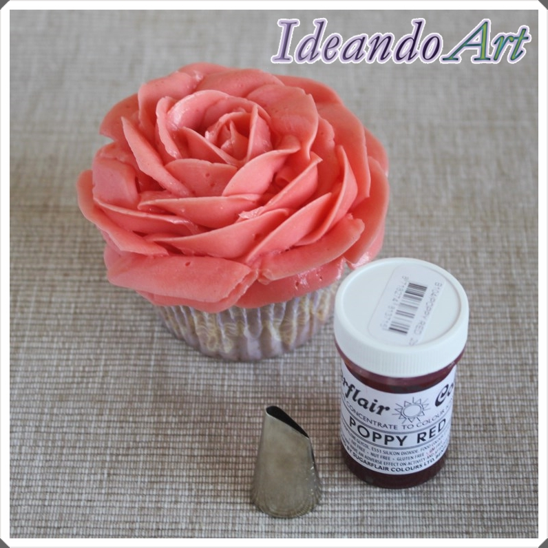 Rosa buttercream y material