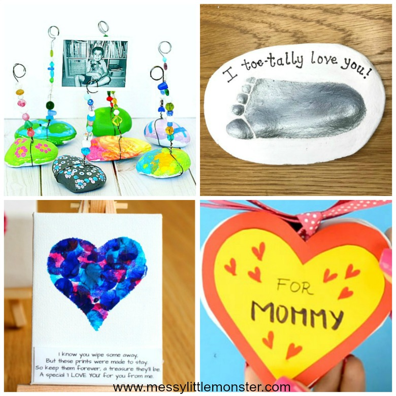 Homemade gifts for mom from kids - easy diy keepsakes that kids can make.