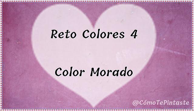 cartel reto colores cosas de chicas morado
