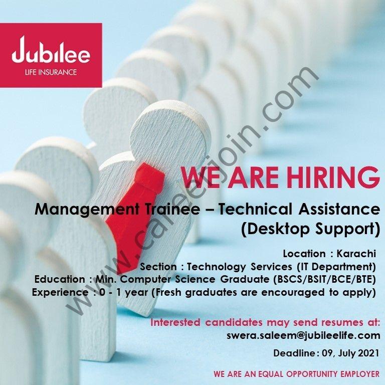 Jubilee Life Insurance Company Pvt Ltd Jobs July 2021