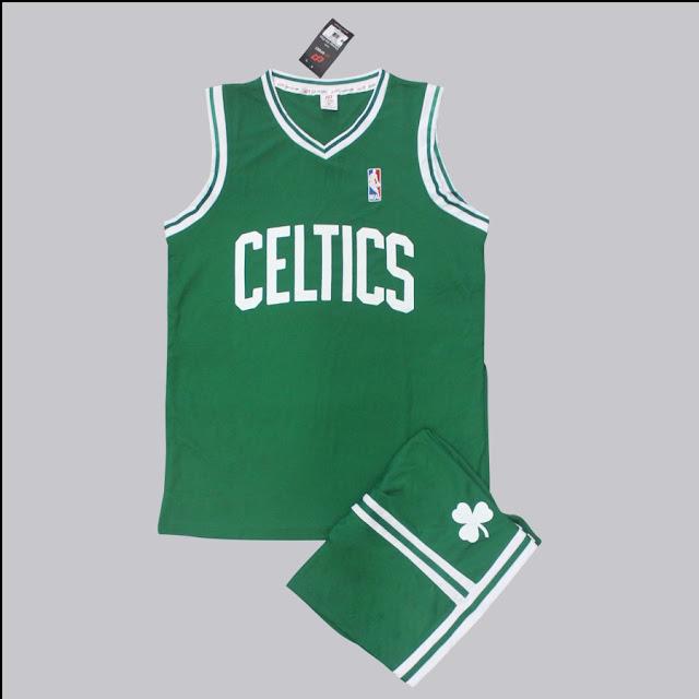 Áo bóng rổ Celtics màu xanh đẹp