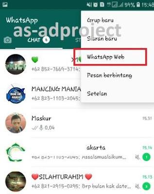 Cara Menggunakan Whatsapp Web di Komuter atau Laptop