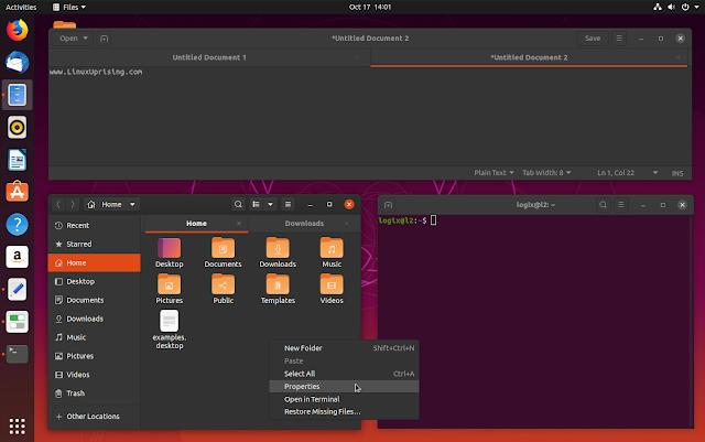 Ubuntu 19.10 dark theme