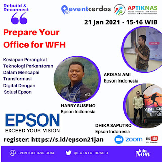 Ikuti Webinar PREPARE YOUR OFFICE & FACTORY FOR WFH bersama EPSON