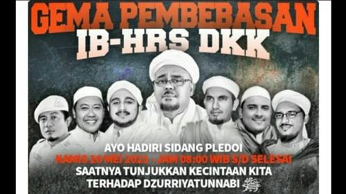 Beredar Poster, Seruan Demo Sidang Habib Rizieq: Pelanggaran Prokes Bukan Kejahatan