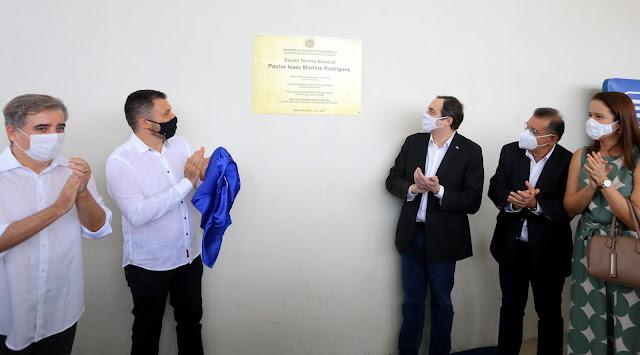 Paulo Câmara inaugura Escola Técnica Estadual em Abreu e Lima