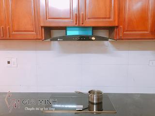 Hình ảnh thực tế: Combo bếp từ Arber AB 669 + Máy hút mùi Arber AB 8800 (700N)