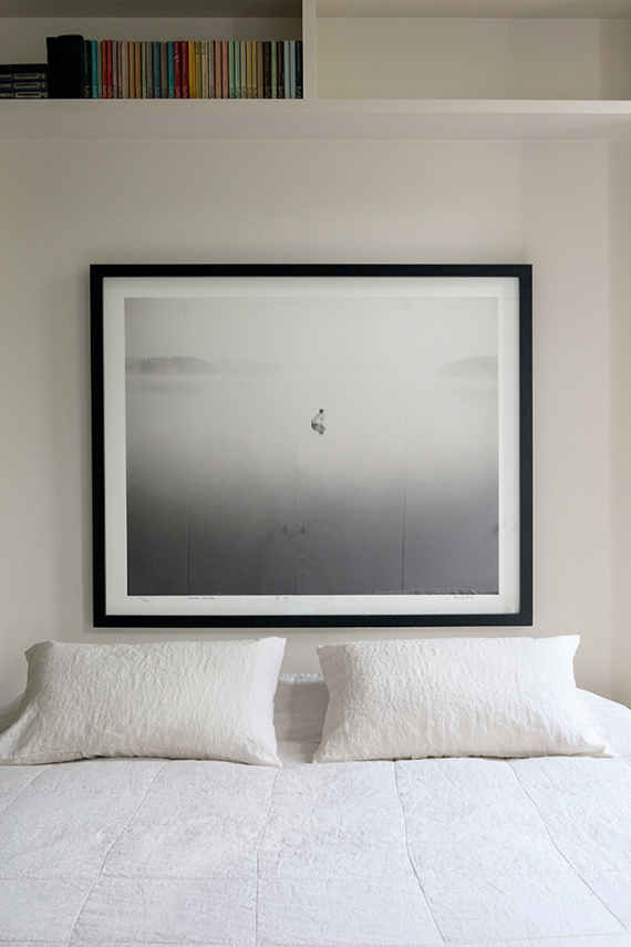 High-impact things to hang over your headboard | Oversized art.  Graanmarkt 13
