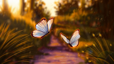 Wallpaper Beautiful Btterflies Flying Together