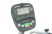 Inspire Fitness Cardio Strider CS2.5 LCD console, with 8 preset programs, Quick Start. Displays watts, distance, RPM, calories, scan