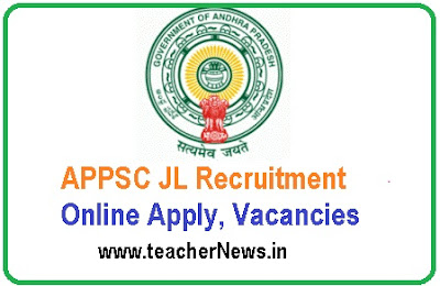 APPSC JL Recruitment 2019 – Online Apply 237 Junior Lecturer Vacancies