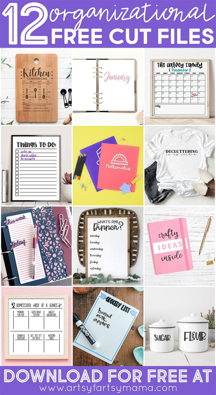 12 Free Organization Cut Files