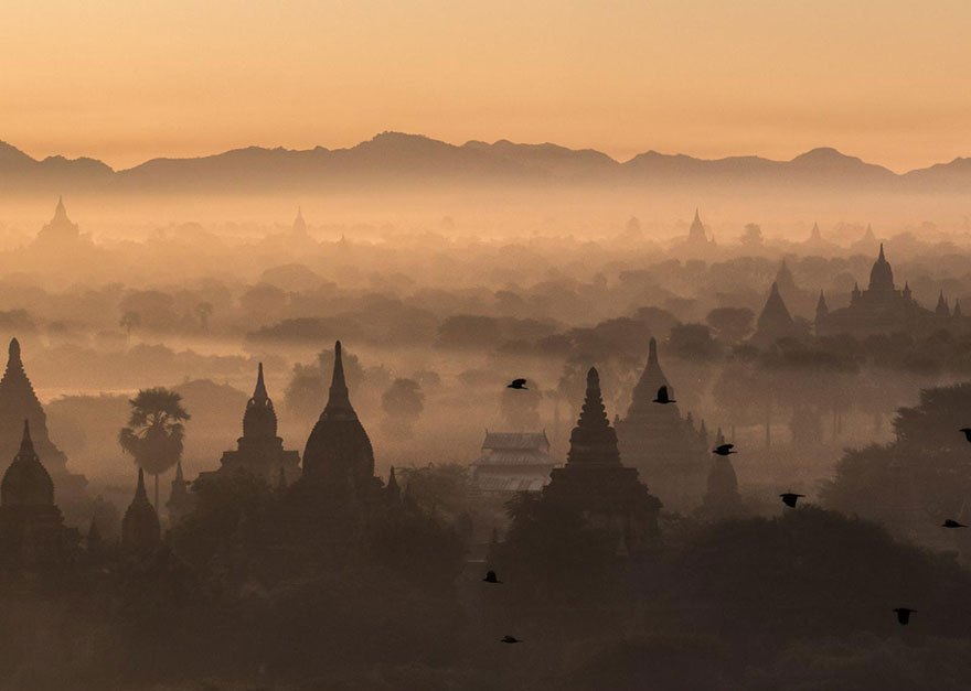 These Are The 35 Best Pictures Of 2016 National Geographic Traveler Photo Contest - Sunrise Over Bagan, Myanmar