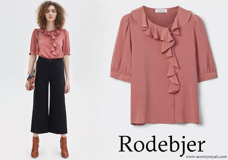 Crown Princess Victoria wore Rodebjer Xilla silk blouse