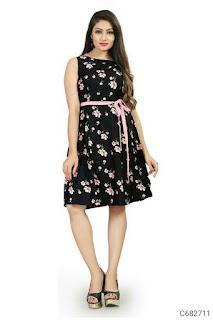 Women's Crepe Printed Dresses