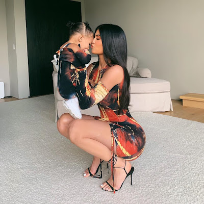 Photos of Kylie Jenner and Stormi in matching outfits