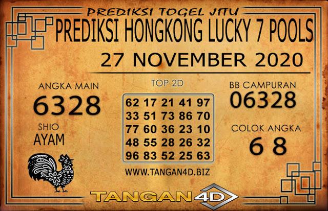 PREDIKSI TOGEL HONGKONG LUCKY 7 TANGAN4D 27 NOVEMBER 2020