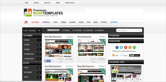 Situs Penyedia Template Blogger Terbaik Gratis/Premium