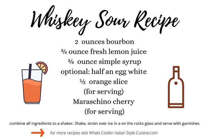 this is a whiskey sour recipe