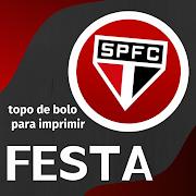 Topo de Bolo São Paulo para imprimir