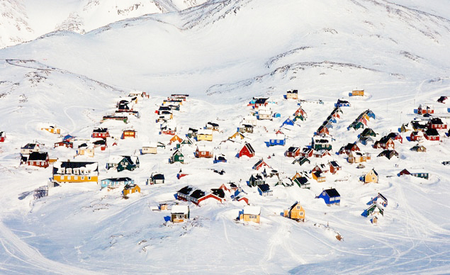 Frozen Ittoqqortoormiit Greenland