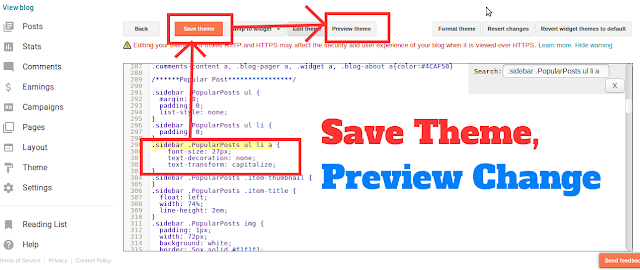Save Blogger THeme and Preview