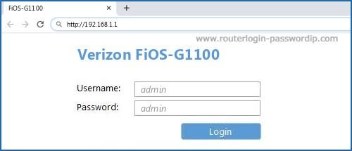 Fios Router Default Login