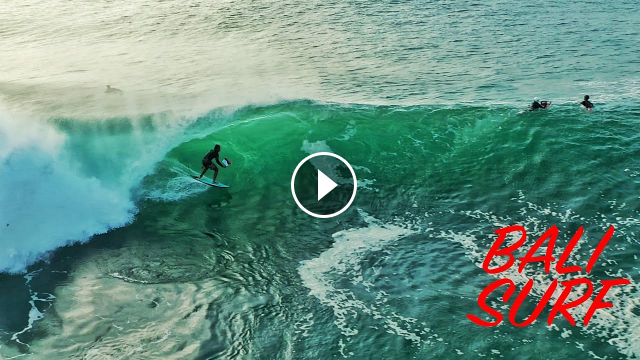 Drone Surf Video on Padang Padang - 12 August 2021