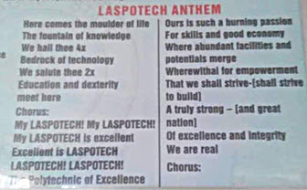 LASPOTECH Anthem Download (Lyrics and Song) - Mp3