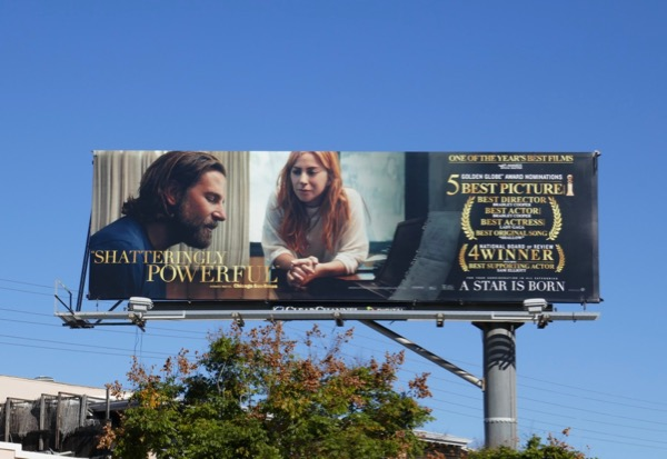 A Star is Born 5 Golden Globe nominations billboard