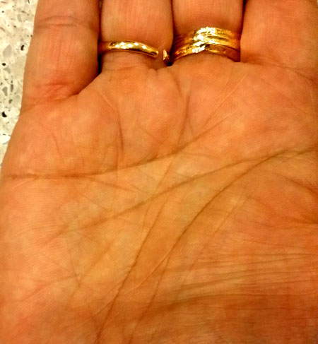 Trident On Heart Line Palmistry
