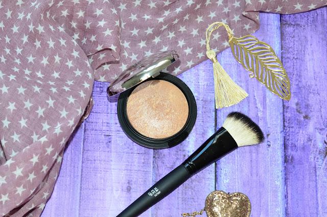 MAKE UP FACTORY Bronze Luminizer № 01 Cinderella Bronze пудра бронзовая люминисцентная, кисть для румян скошенная