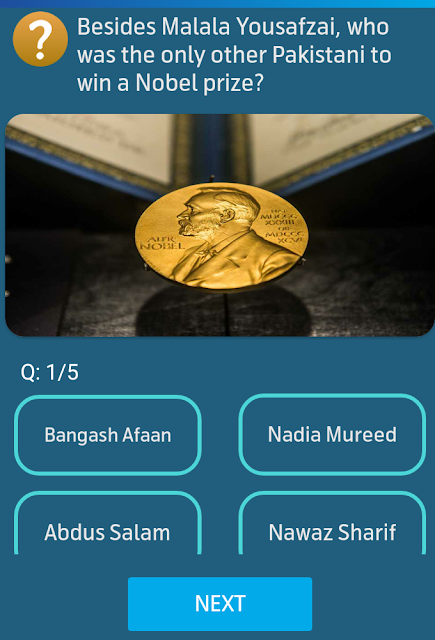 Besides Malala Yousafzai, who was the only other Pakistani to win a Nobel prize?