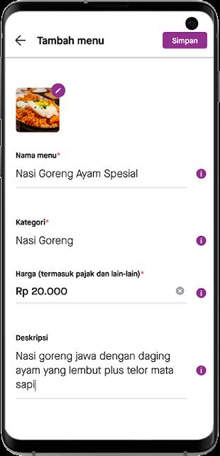 Fitur POS/POS System pada aplikasi super GoBiz dapat digunakan pada ponsel pintar Android