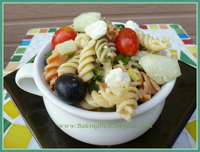 Greek Pasta Salad | recipe developed by www.BakingInATornado.com | #recipe #salad