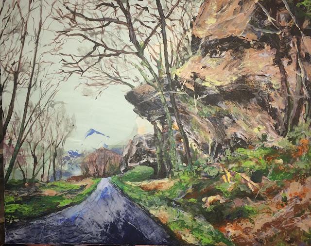 peinture des rochers de Bourdeilles