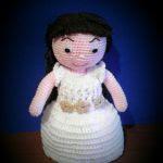 patron gratis muñeca comunion amigurumi | free pattern amigurumi communion doll