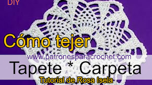 Aprende a tejer una carpetita o tapete pequeño a crochet con tutorial super explicado