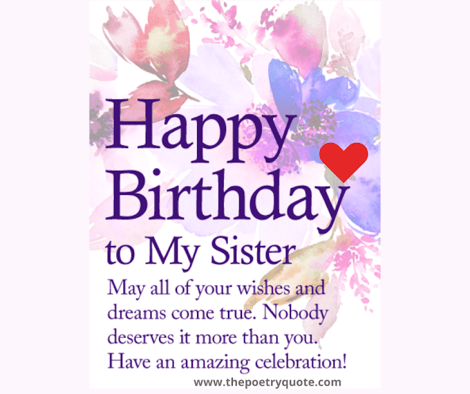 50+ Best ways to say Happy Birthday Sister - 2020