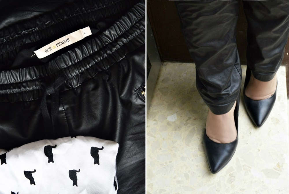 "Leather imitate pants ""Zarah"" by RUE de FEMME / myonbelle"