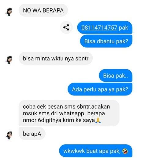 modus peretasan akun whatsapp