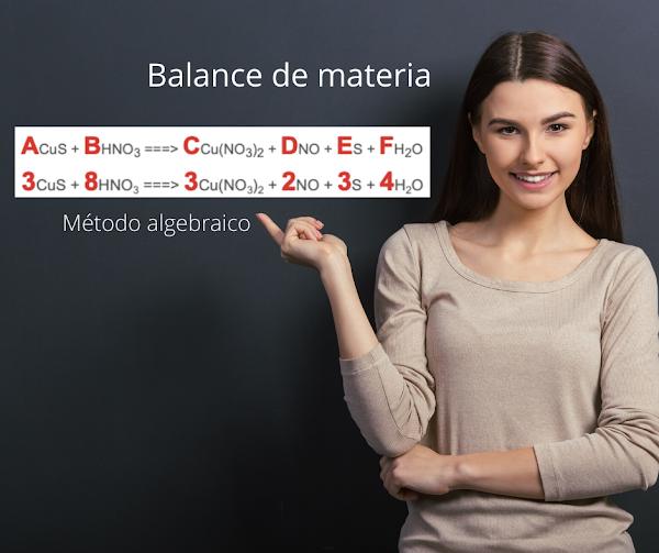 Balance M. Algebraico CuS + HNO3 ===> Cu(NO3)2 + NO + S + H2O