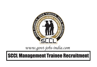 SCCL Management Trainee Recruitment 2020