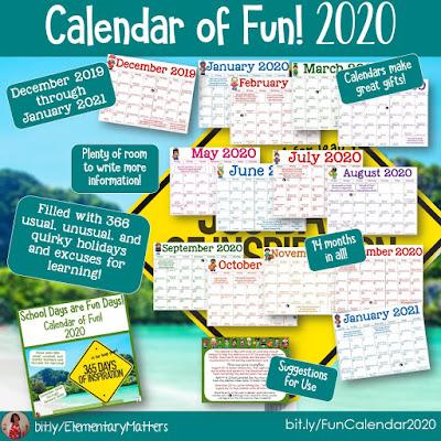 https://www.teacherspayteachers.com/Product/Calendar-of-Fun-2020-5010805?utm_source=January%20Resources%20Blog%20post&utm_campaign=2020Calendar
